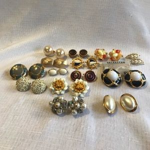 Jewelry - Lot of Vintage Clip Earrings BED, LCI, Japan etc.